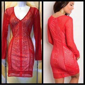 SALE WAS 45$ Sexy red body con dress